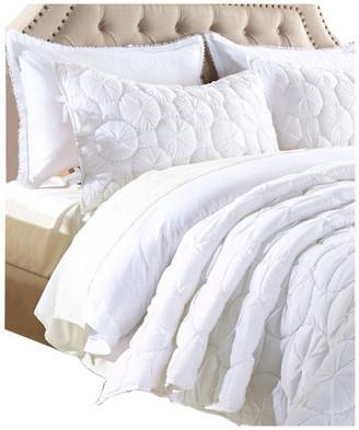 Calla Angel Dream Waltz Luxury Pure Cotton Quilt, White, King