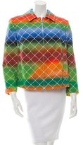 Akris Punto Net Print Cropped Jacket w/ Tags