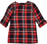 River Island Mini girls red check zip dress