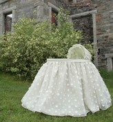 The Well Appointed House Lulla Smith Londonderry Silk Baby Bassinet-Available in a Variety of Colors