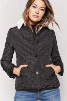 Forever 21 Quilted Faux Shearling Jacket
