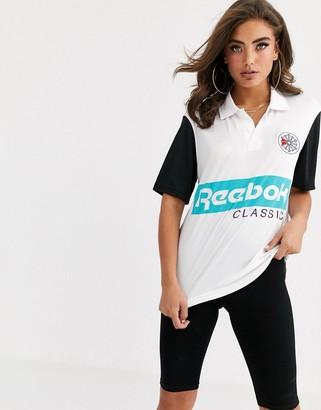 Reebok Classics retro jersey polo shirt-White