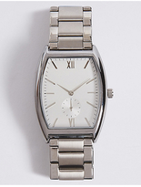M&S Collection Classic Rectangle Metal Bracelet Watch