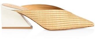 Mercedes Castillo Tayten Bi-Color Embossed Leather Mules