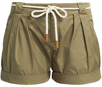 Frame Tie-Up Rolled Shorts