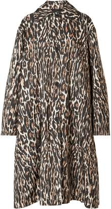 Calvin Klein Oversized Leopard-print Faille Coat