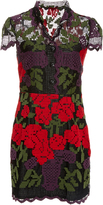 Anna Sui Roses And Vases Lace Dress