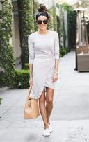Ily Couture Light Grey Knot Knit Dress