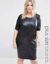 Junarose Faux Leather Shift Dress