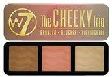 W7 The Cheeky Trio Bronzer, Blusher & Highlighter Powder Palette
