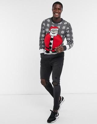 Brave Soul Big Santa Christmas sweater