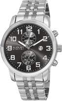 August Steiner Men's Two Tone Stainless Steel Chronograph Bracelet Watch, 44mm
