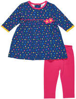 Florence Eiseman Long-Sleeve Polka-Dot Top w/ Leggings, Size 3-24 Months