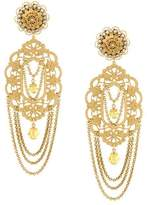 Dolce & Gabbana filigree statement clip-on earrings