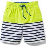 Old Navy Color-Block Striped Swim Trunks for Toddler