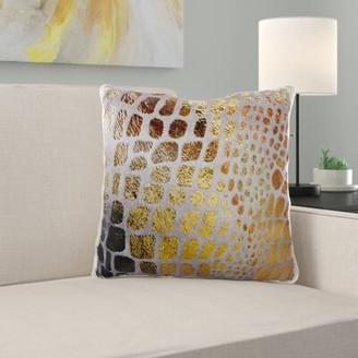 East Urban Home Reddy Giraffe Gold Pillow Cover East Urban Home