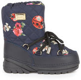 Dolce & Gabbana Flower and ladybird print snow boots