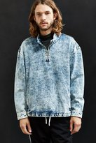 Urban Outfitters Bleached Denim Mock Neck Pullover Shirt