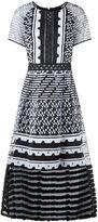 Jonathan Simkhai Black & White Organza Embroidered Dress