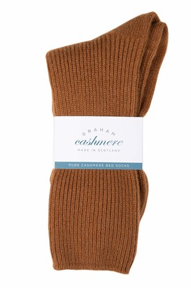 Graham Cashmere - Pure Cashmere Bed Socks - Made in Scotland - Gift Boxed (Soft Blue) One Size