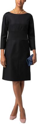 HUGO BOSS Denalyn Wool Satin Waisted Dress