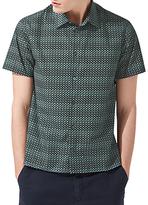 Jigsaw Displaced Short Sleeve Poplin Shirt
