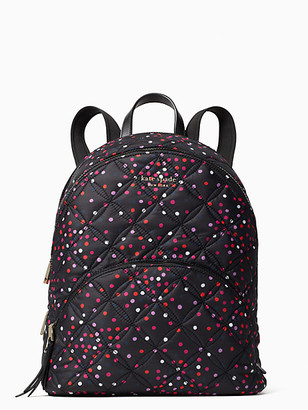 Kate Spade Karissa Nylon Quilted Festive Confetti Large Backpack