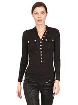 Balmain Cotton Cashmere Jersey Top