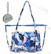 Micom Chevron Large Clear Tote Bags PVC Beach Lash Package Tote Shoulder Bag with Interior Pocket