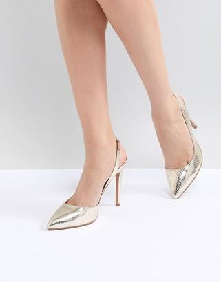 ASOS DESIGN Prefect Slingback Pointed Heels