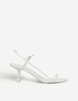 The Row Bare leather heeled sandals