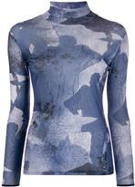 Victoria Victoria Beckham abstract print turtleneck top