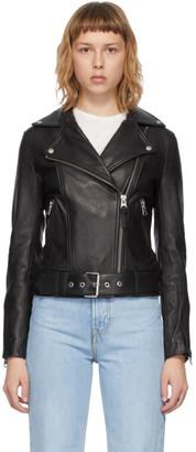 Mackage Black Leather Kylie Jacket
