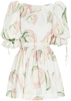 Aje Imprint Cotton Floral Mini Dress