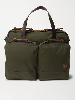 Filson Dryden Leather-Trimmed Camouflage-Print Nylon Briefcase
