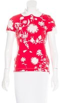 Salvatore Ferragamo Floral Print Short Sleeve Top