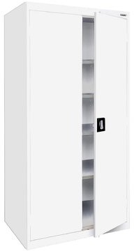 2 Door Storage Cabinet Sandusky Cabinets Color: White