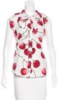 Moschino Cherry Print Sleeveless Top w/ Tags