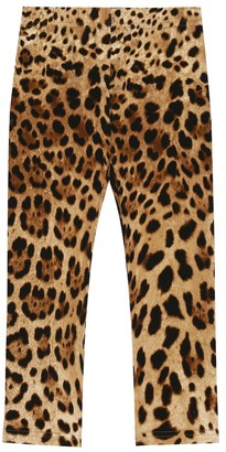 Dolce & Gabbana Leopard stretch-cotton leggings