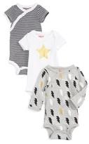 Skip Hop Infant Boy's Star Struck 3-Pack Assorted Bodysuits
