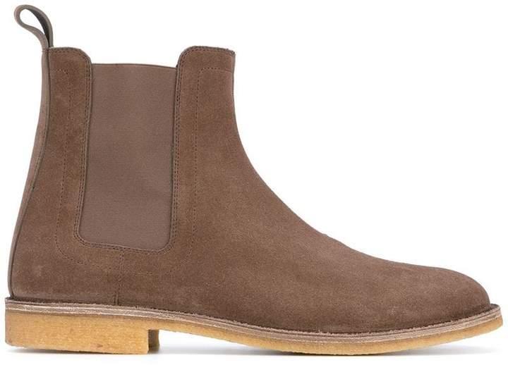 Bottega Veneta steel suede voortrekking boot