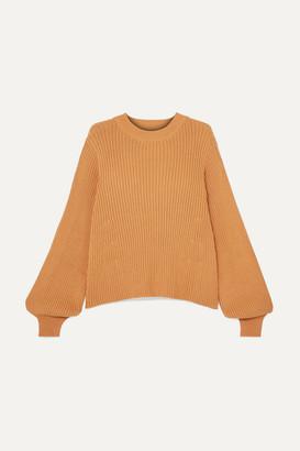 L.F. Markey Benji Ribbed Cotton Sweater - Camel