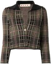 Marni checked cropped cardigan