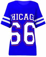 Crazy Girls Womens Chicago 66 Printed Oversized Top