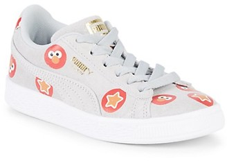 Puma Girl's Graphic Leather Sneakers