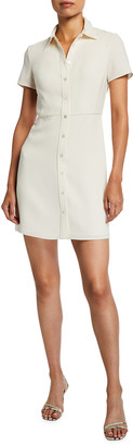 Theory Short-Sleeve Button-Down Dress