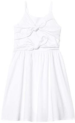 Habitual Front Bows Dress (Big Kids) (White) Girl's Clothing