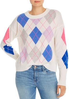 Aqua Argyle Cashmere Sweater - 100% Exclusive