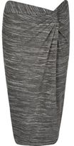 River Island Womens Grey twist knot skirt