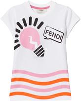 Fendi White and Pink Lightbulb Print Tee